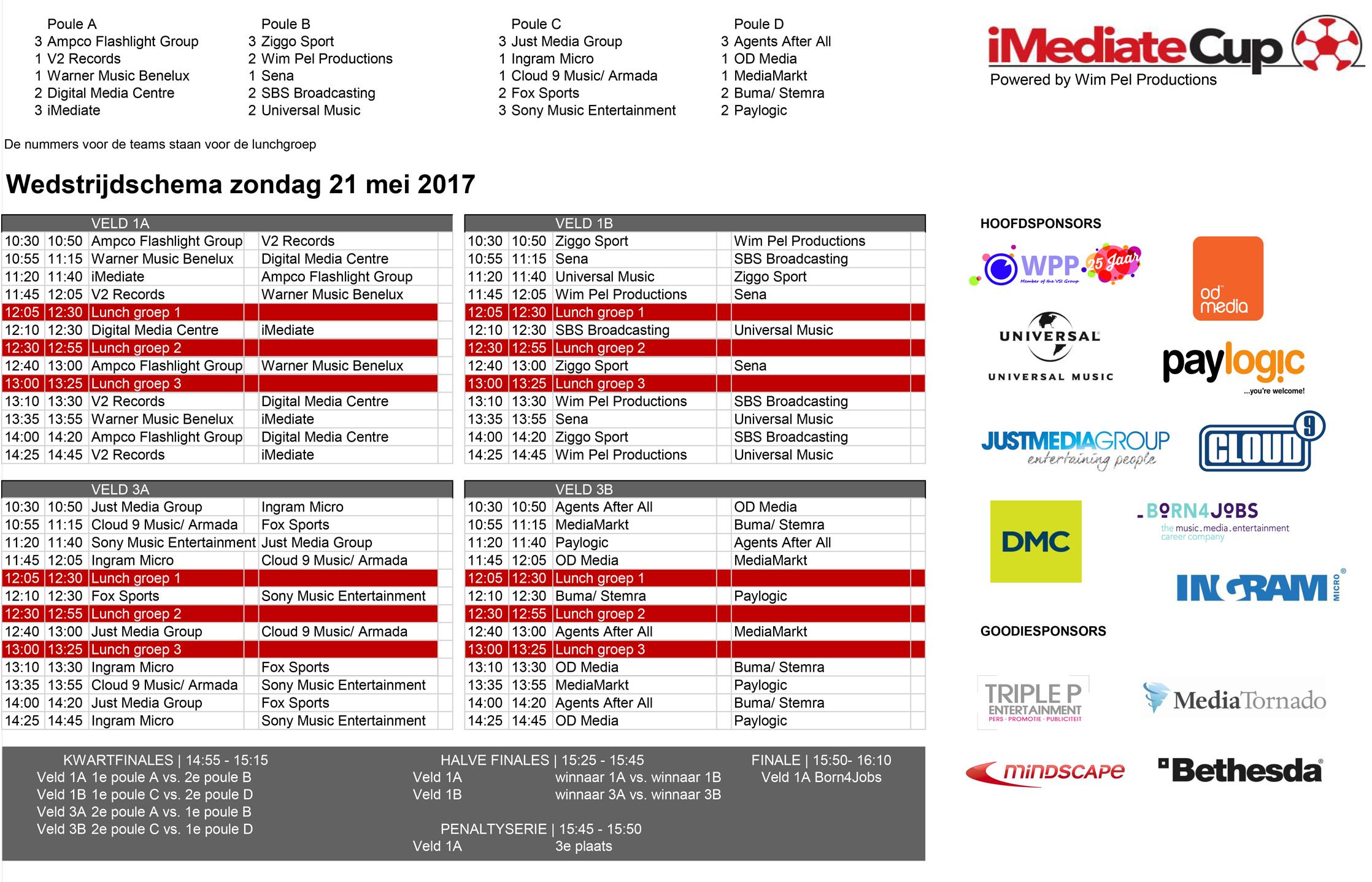 Wedstrijdschema-iMediate-Cup-2017