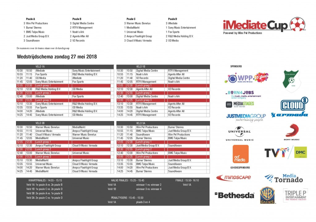 Wedstrijdschema iMediate Cup 2018.xls - Compatibiliteitsmodus